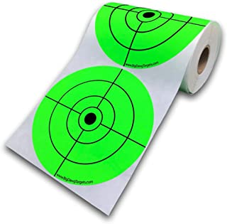 """Big Dawg Targets 150 Target Roll - Florescent 5"""" Inch Adhesive Shooting Target Stickers"""