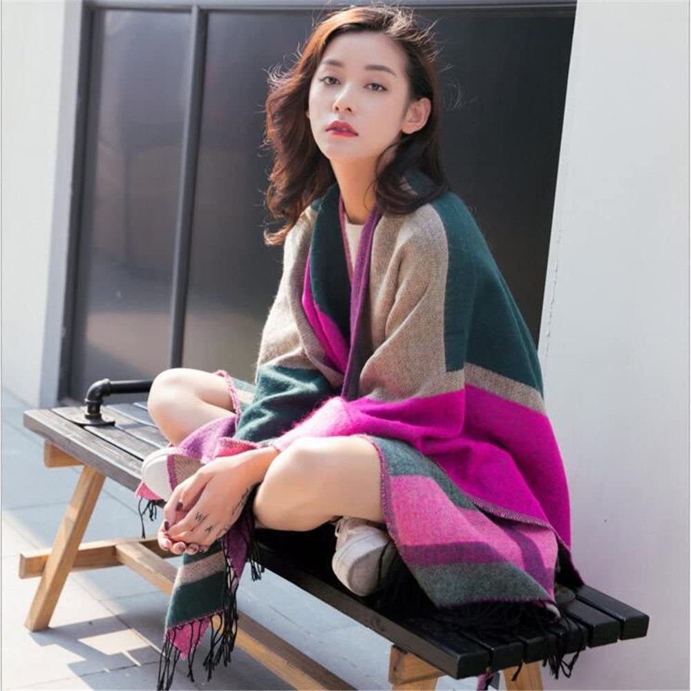 ZHANGYONG Shawl Scarf Fringed Winter Split 25% OFF Soft Cotton Financial sales sale Thickened