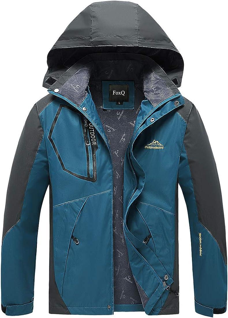 FoxQ Men's Spring Waterproof Jacket price latest Softsh Hood with Lightweight