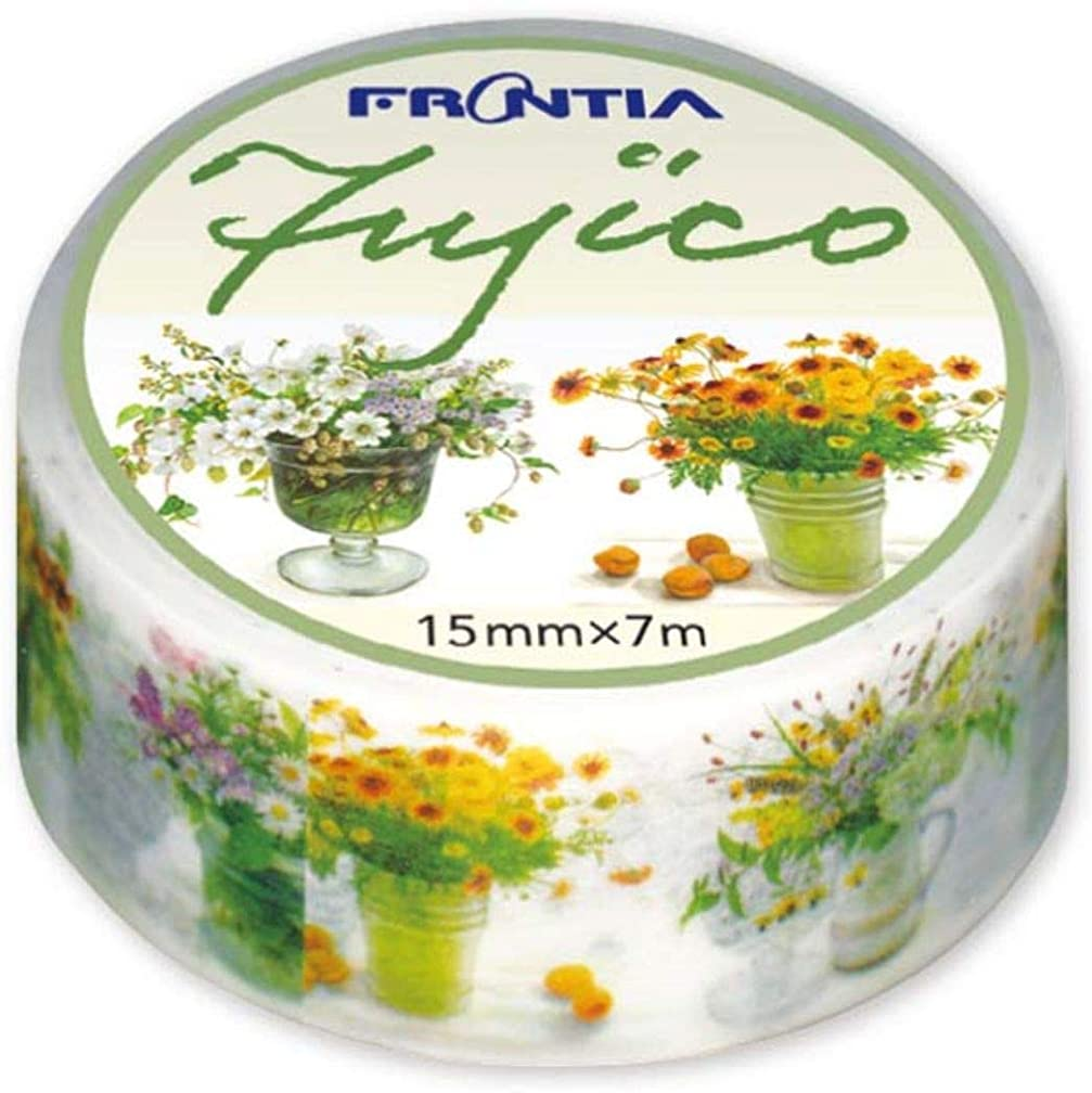 Frontia Japanese Masking Tape Flower Floral Design Fujico 0.6