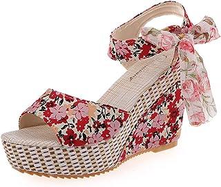 【Feteso サンダル】 レディース ハイヒール 花柄 おしゃれ 着心地よい 快適 美脚 滑りにくい ファッション 春夏秋 歩きやすい ベランダ Women's Sandal