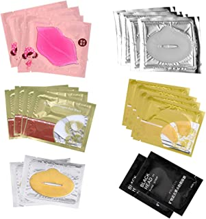 CCbeauty 20-Pack Collagen Crystal Lip Mask Eye Mask Nose Blackhead Mask Care Gel Mix Package