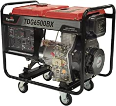Gerador Diesel Toyama 5500w Bivolt com Carregador 12v Tanque 12,5l Brushless Tdg6500bx