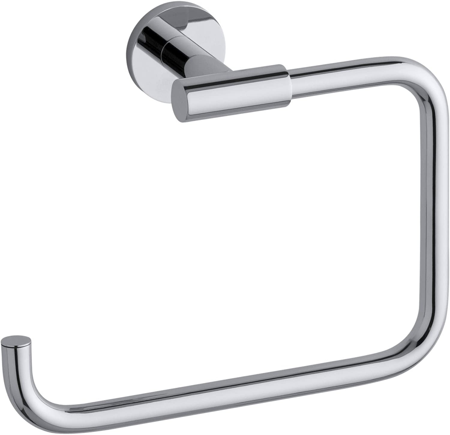 KOHLER K-14456-CP Stillness Bathroom Towel Ring, Polished Chrome