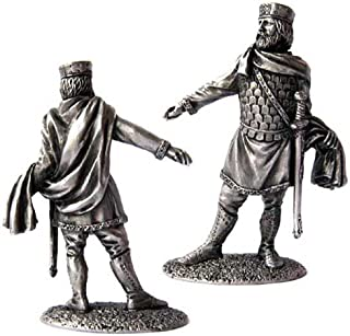 Military-historical miniatures Byzantine Emperor 12 century Tin Metal 54mm Action Figures Toy Soldiers Size 1/32 Scale for Home Décor Accents Collectible Figurines ITEM #P15