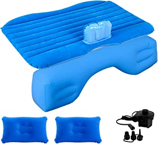 Premium Quality Car Travel Back Seat Inflatable Air Mattress 2 Air Pillows,2 Air Piers,1 Travel Neck Pillow,Mattress and P...