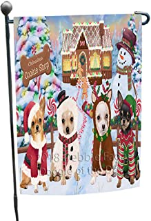 Doggie of the Day Holiday Gingerbread Cookie Shop Chihuahuas Dog Garden Flag GFLG56940