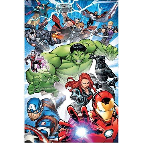 COPERTA Plaid Avengers Hulk Thor Iron Man Capitan America Marvel in Pail CM. 100x150 - AVE2202