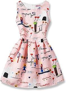 Girls Butterfly Pattern Princess Long Dress