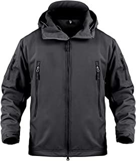 Tactical Jacket for Men Water Repellent Windproof Coat Big Tall Mens Fleece Lined Softshell Jackets