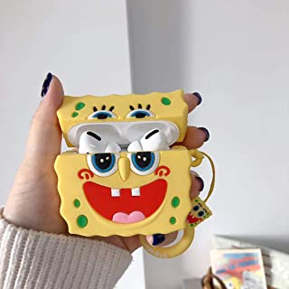 Airpods Pro Silicone Case, Azlanlan (SpongeBabies) McDonald's Box Despicable Milk Dad Pie Star 3D Cute Cartoon Luxury Funny Fun Cool Cute Airpods Pro Silicone Case. (L4)