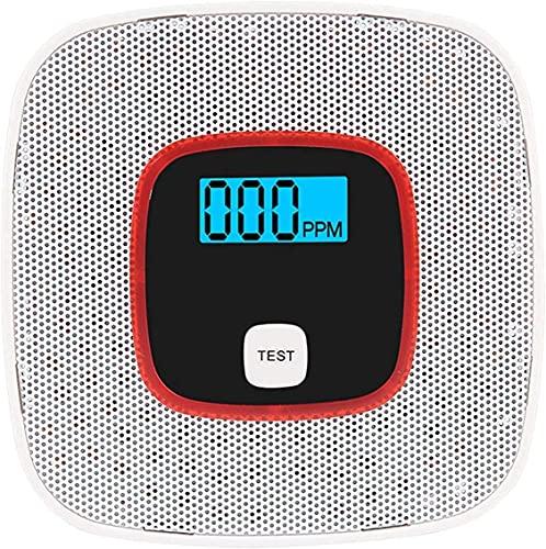 OBEST 自宅火災報知器 一酸化炭素検知器警報 ガスセンサ検知器付き デジタル表示付き 目覚まし アラーム 実装式 家庭用 CO2検出 煙 感知機 火事 安全 セキュリティ