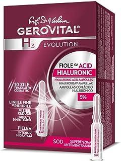 Gerovital H3 Evolution 229 Ampollas con ácido hialurónico de alta concentración 5% 30 + antiedad – 10 ampollas x 2 ml