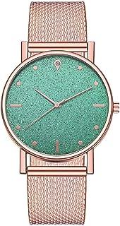 Neubula - Reloj de pulsera para mujer, cuarzo, analógico, reloj de pulsera de lujo con esfera y correa de acero inoxidabl...