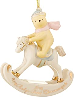 Lenox Disney 2016 Pooh Baby's 1st Christmas Ornament First Rocking Horse