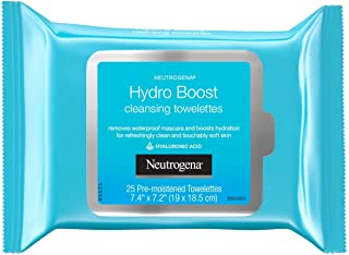 Neutrogena Hydro Boost Cleanser Facial Wipes 25 Count (Pack