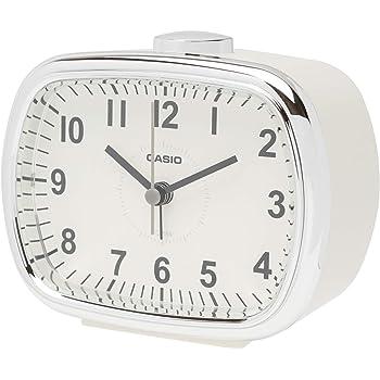 CASIO(カシオ) 置き時計 クリーム 9.1×10.9×6.2cm レトロカラー TQ-159-7JF