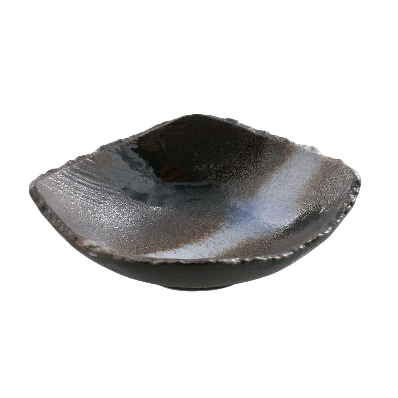効率的にスーパー湿原テーブルウェアイースト 和食器 小鉢 変形菱型 黒海 鉢 取り皿 お皿 (小鉢)