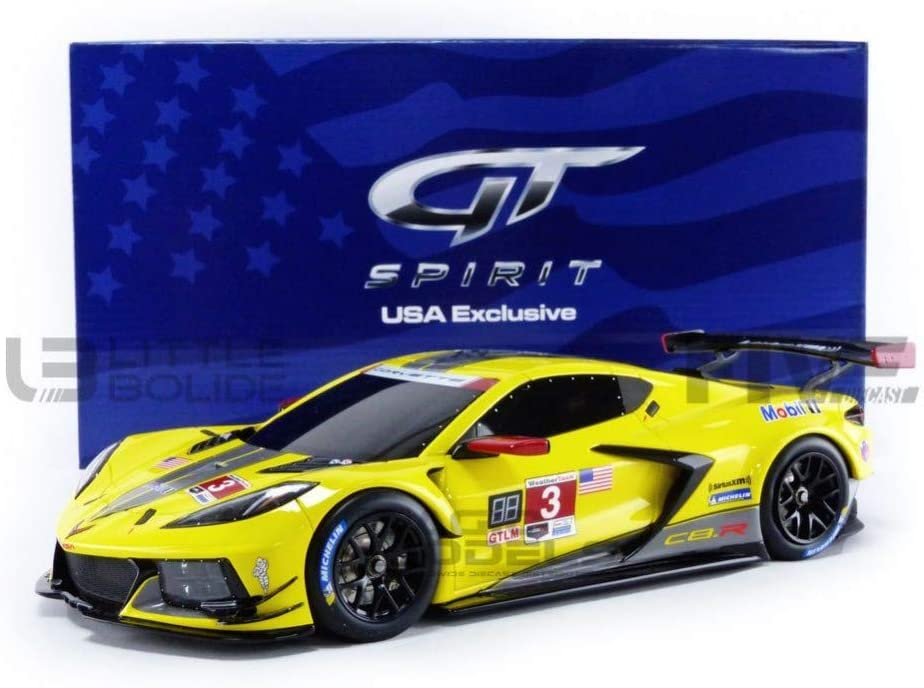 High material 2020 Cheap super special price Chevy Corvette C8.R Racing Car Stripes Yellow #3 Black with