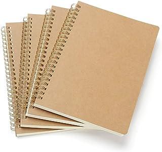 VEESUN Bloc de Notas Espiral A5, Pack de 4 Cuaderno de notas