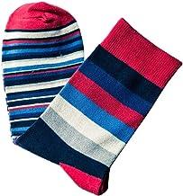 FKJSP Stijlvolle mannen kleurrijke herfst mode kleur gestreept zo sokken in buis casual katoenen sokken maat zachte sokken...