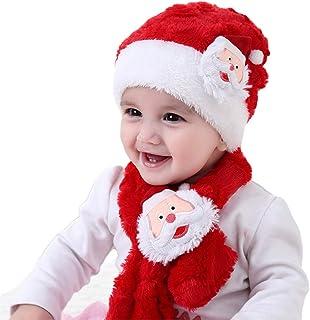 PULABO - Bufanda de punto para niños, de dos piezas, para bebé, niña, de punto
