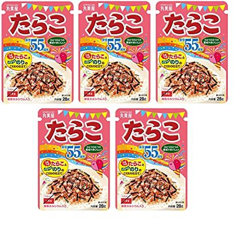 Furikake Tarako, japanische Streuwürze für Bento-Reis, Tarako Kabeljau-Rogen-Geschmack, 28 g x 5 Packungen - Hergestellt in Japan