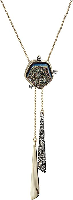 Alexis Bittar - Druzy Stone Tassel Lariat Necklace
