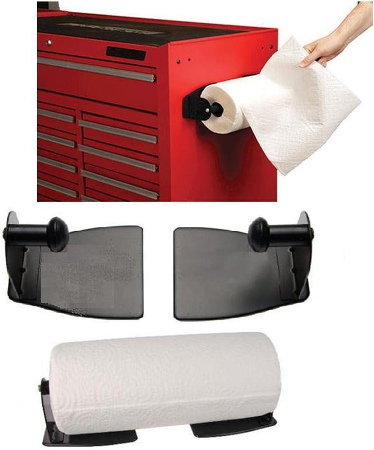 JMK 1 Shop Paper New Orleans Mall Regular dealer Towel Holder Black Magnetic