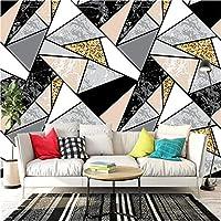 YNYEZBH 3Dリビングルーム壁画シンプルな幾何学的な三角形の寝室の壁のステッカーウォールアートの壁紙の装飾