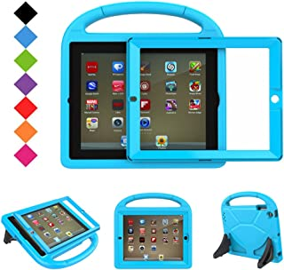 BMOUO Kids Case for iPad 2 3 4 - Built-in Screen Protector, Shockproof Convertible Handle Stand Friendly Kids Case Cover for Apple iPad 2nd 3rd 4th Generation - Blue