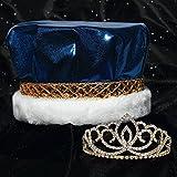 Anderson's Blue Metallic Crown and Gold Sasha Tiara Royalty Set