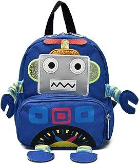 Lazeny Kids Backpack Cartoon Robot Rucksack Shoulder School Bag with Anti-Lost Harness Kindergarten Preschool Nursery Back...