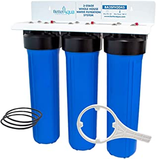 Better Aqua Filter 3 Stage Big Blue Whole House Water Filtration System 20