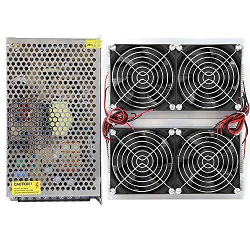 Refrigeración de semiconductores, XD2030 12V 20A 220W Ensamblaje de placa de enfriamiento de refrigeración de semiconductores de 4 núcleos con interruptor de potencia