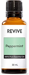 REVIVE Essential Oils Peppermint - 100% Pure Therapeutic Grade, For Diffuser, Humidifier, Massage, Aromatherapy, Skin & Hair Care - Cruelty Free - Unrefined Oils With No Fillers.