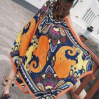 パレオ 大判 花 ビキニカバー 女性のパレオ、 ビキニカバーアップビーチドレスビーチタオル水着、 夏の海辺のサロンショール、 ビーチスイムウェアラップスカート、 パシュミナスカーフウィメンズ (Color : B)