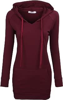 Womens Long Sleeve Tunic Hoodies String Sweatshirts with Pockets