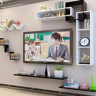 クリエイティブラティスセットトップボックスシェルフホームフローティングテレビキャビネットリビングルームウォールマウントフローティング