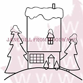 Woodware Jane Gill - Clear Magic Stamp - The House On The Hill, A6, Transparent