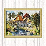 Mill Stamped Cross Stitch Kit DIY Needlework Cross-Stitch Set Canvas para bordado Tela impresa 11CT Handmade Crafts kits de punto de cruz