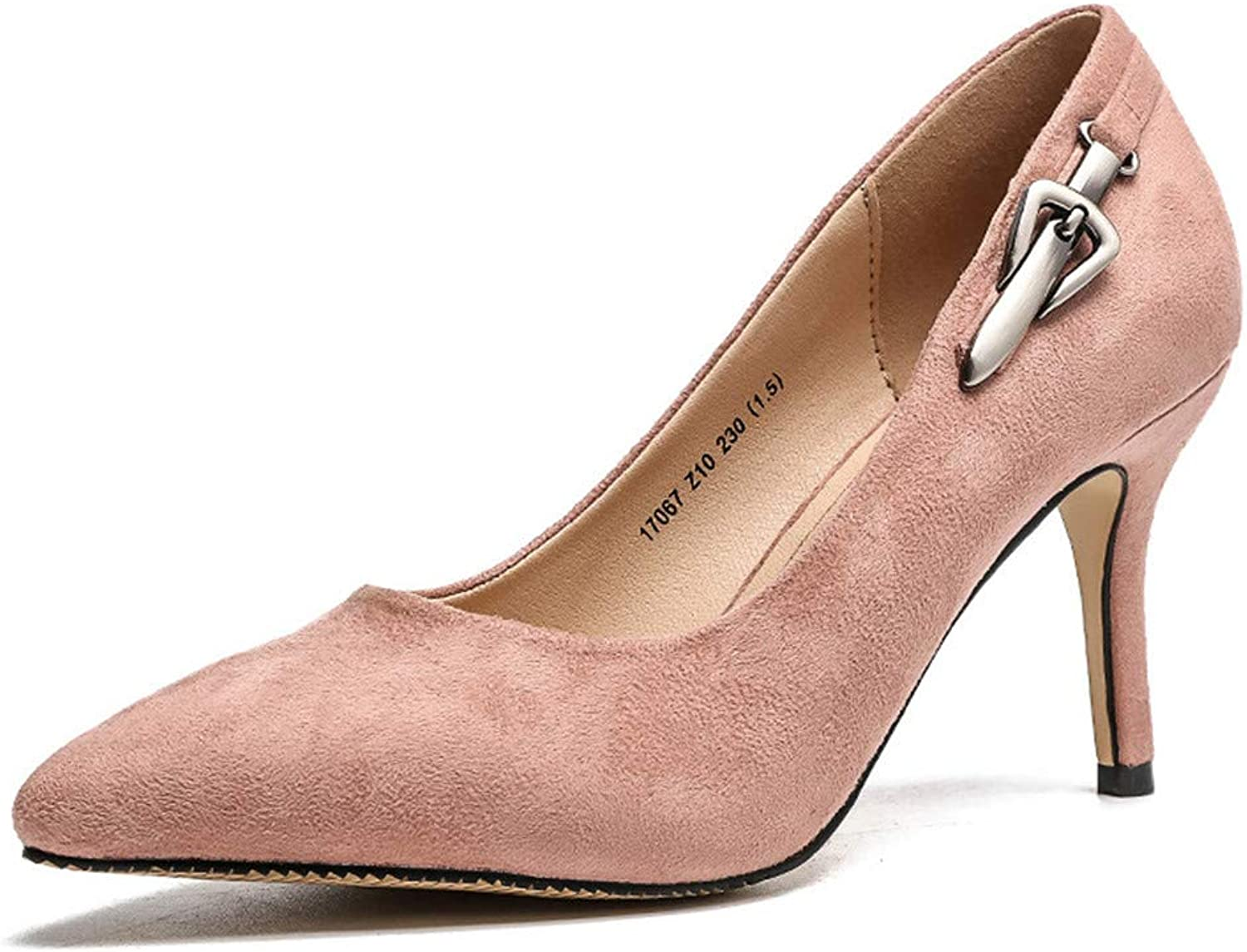 Meiren Fashion Women's shoes Autumn High Heels Stiletto Pointed shoes Pink