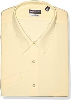 Men's BIG FIT Short Sleeve Dress Shirts Poplin Solid (Big and Tall)