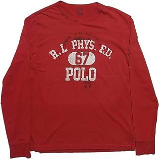 (ポロ ラルフローレン) 長袖 プリント Tシャツ レッド Polo Ralph Lauren 1126[並行輸入品]