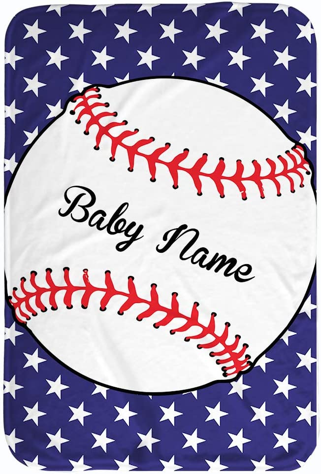 Fleece Blanket 31x47 NICTIMEID Personalized Baby Blankets Custom Boxing Baby Blanket with Name for Boy