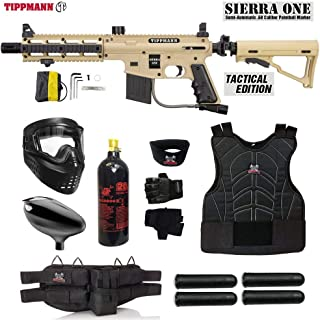 MAddog Tippmann Project Salvo Sierra One Starter Protective CO2 Paintball Gun Package