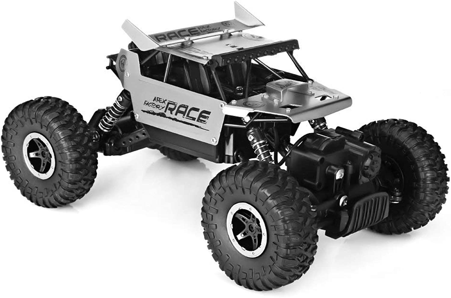 Generic High Speed RC Car 1 18 Alloy 2.4G 4WD Crawler Remote Control Toy Cars On The Radio Drive OffRoad Climbing Rock Car Toy for Boy Silver