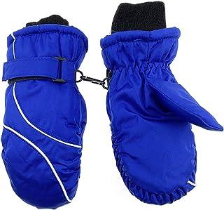 Guantes de esquí para niños, para invierno, para niños, para nieve, cálidos, snowboard, para niños y niñas