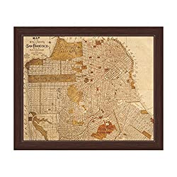 Antique San Francisco Map.
