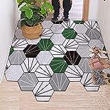 Felpudo hexagonal de PVC, para dormitorio, baño, sala de estar,...